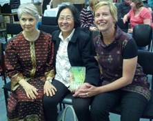 Virginia Hooker, Lien Lee and Deryn Mansell at the Indonesian Forum Launch