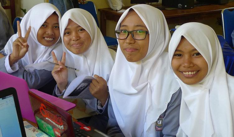 Students at Pinrang workshop